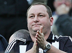 NEWCASTLE-UPON-TYNE, UNITED KINGDOM - NOVEMBER 03: Mike Ashley, Owner of Newcastle United looks on during the Barclays Premier League match between Newcastle United and Portsmouth at St.James Park on November 03, 2007 in Newcastle, England.  (Photo by Matthew Lewis/Getty Images)